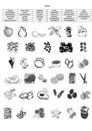 Fruit food vocabulary esl worksheet by brolman02 english worksheet fruit food vocabulary ibookread Download