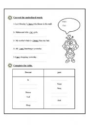 English Worksheets: correct the underline word