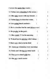 English Worksheets: grammer