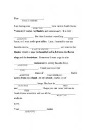 English Worksheet: Prepositions/Places Mad Libs