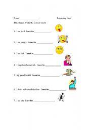 English Worksheets: Expressing need