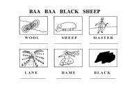 English worksheet: BAA BAA BLACK SHEEP