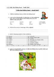 Little Red Riding Hood by Roald Dahl (vocabulary)