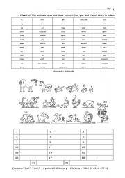 English Worksheets: 02 Elementary Animals