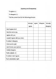 English Worksheets: Agreeing and Disagreeing