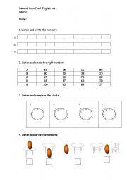 english worksheets test english primary 2. Black Bedroom Furniture Sets. Home Design Ideas