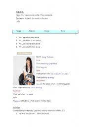 English Worksheets: my profile
