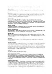 English Worksheets: Glossary from Importation & Exportation terms