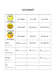 English Worksheets: Let�s answer!