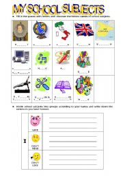 English Worksheet: SCHOOL SUBJECTS - LIKES & DISLIKES - ABILITIES