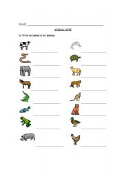 english worksheets animal quiz with charades. Black Bedroom Furniture Sets. Home Design Ideas