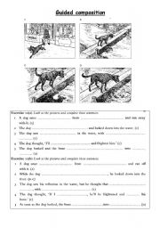 English Worksheet: writing a story