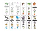 English Worksheets: go fish animals