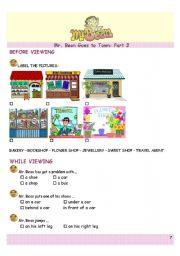 English Worksheets: Mr. Bean Goes to Town 3