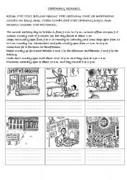 English Worksheet: TELLING THE TIME (READING EXERCISE)