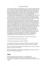 English Worksheets: Troy, a Burried Treasure