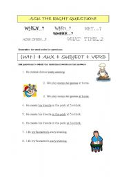 English Worksheets: Ask the right question