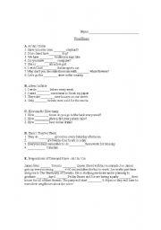 English Worksheet:  Beginner Exam