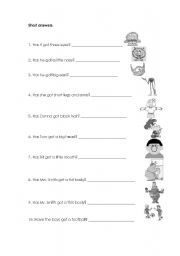 English Worksheets: Have got-Short Answers