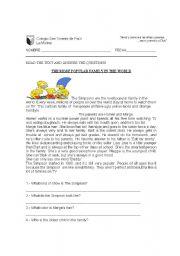 English Worksheet: Simpson Family