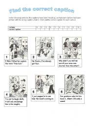English Worksheets: Cartoons