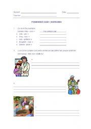 English worksheet: Possessive Case ´s