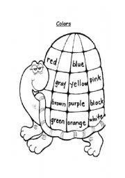 English Worksheet: Colors