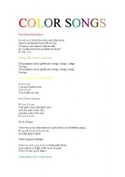 Color songs-poems-flashcards