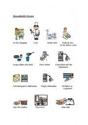 English Worksheets: Household Chores