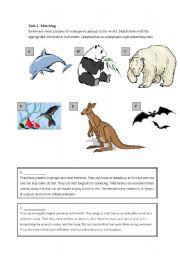 Worksheets Endangered Animals Worksheets Grade 2 english teaching worksheets animals reading endangered exercise