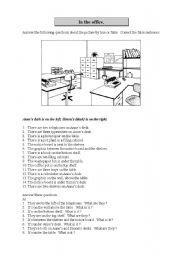 in the office prepositions of place esl worksheet by brolman02. Black Bedroom Furniture Sets. Home Design Ideas