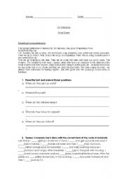English Worksheet: Final Exam - Adults