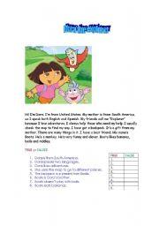 English Worksheets: Dora the Explorer