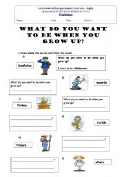 When I Grow Up I Want To Be Worksheet