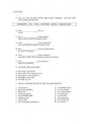 English Worksheets: Combinated exercises
