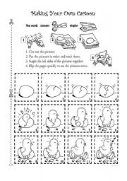 English Worksheets: Let your students make their own cartoon!!!!