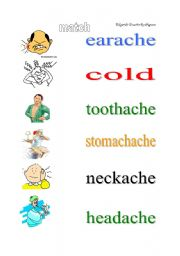 English Worksheets: aches