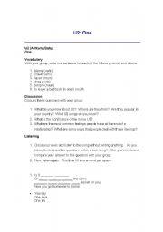 English Worksheets: one
