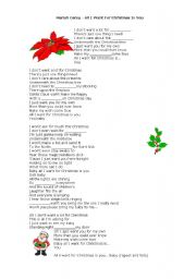 English Worksheets: Christmas Song - Gap filling