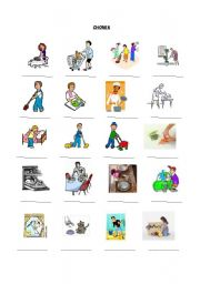 English Worksheet: CHORES