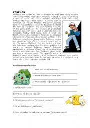 Pokémon reading comprehension