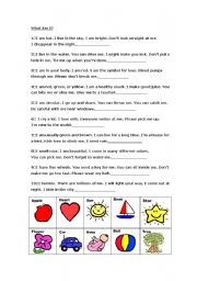English Worksheets: What am I