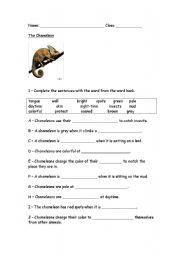 English Worksheets: The Chameleon
