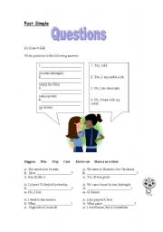 English Worksheets: past simple questions