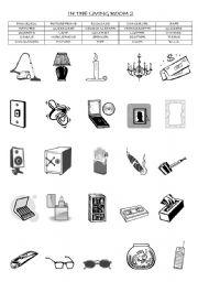 Things In The Living Room Worksheet - Living Room Design Ideas