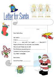 English Worksheet: Letter for Santa
