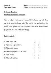 English Worksheets:  Comprehension: