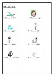 English Worksheets: am-is