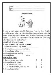 Reading Comprehension - ESL worksheet by roma_ama