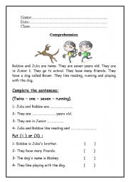 Worksheet Reading Comprehension Worksheets For Grade 1 english teaching worksheets reading comprehension comprehension